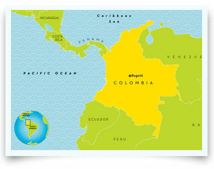 Surrogacy in Colombia map
